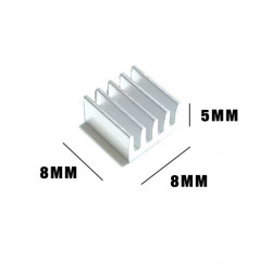 HEAT SINK 8X8X5MM
