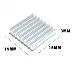 HEAT SINK 15X15X3MM