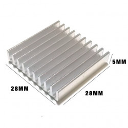 HEAT SINK 28X28X5MM