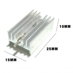 HEAT SINK 25X15X10 WITH PIN, PCB MOUNT