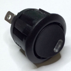 ROCKER ROUND SWITCH ON-OFF YELLOW LED R13-112L
