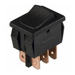 ROCKER SWITCH DPDT ON-OFF-ON 125V 13A