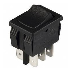 ROCKER SWITCH DPDT ON-OFF 125V 16A
