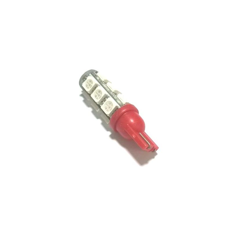 LED T10-5050-13SMD, RED, 12V