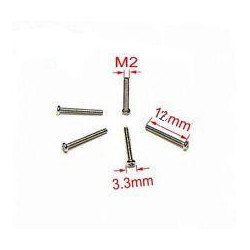 SCREW M2X12 ROUND 25PCS/PKG