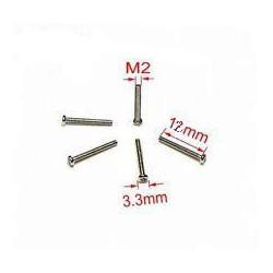 SCREW M2X12 ROUND 25PCS/PKG