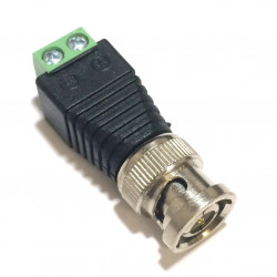 BNC MALE PLUG TO TWO TERMINALS ADAPTER