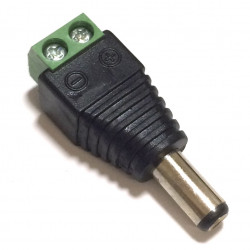 2.5MM DC POWER PLUG (MALE) TO TWO TERMINALS