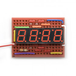 7-SEGMENT CLOCK DISPLAY - 4 DIGIT (RED) (+)