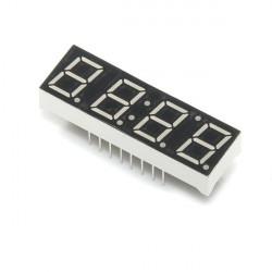 7-SEGMENT CLOCK DISPLAY - 4 DIGIT (RED) (+)