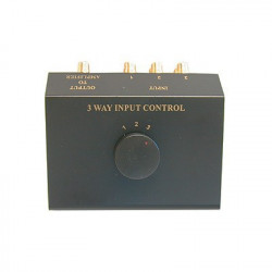 STEREO SWITCH BOX 3-WAY CVS970