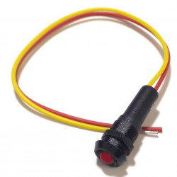 12V RED LED W/ LEADS