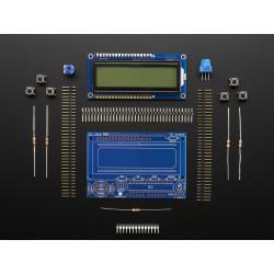 RGB LCD SHIELD KIT w/16x2 DISPLAY- ONLY 2 PINS