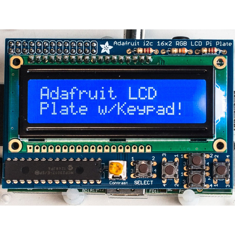 KIT, LCD BLUE/WHITE DISPLAY + KEYBOARD FOR PI