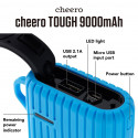 CHEERO TOUGH 9000mAh BLUE IP66 WATER RESISTANT