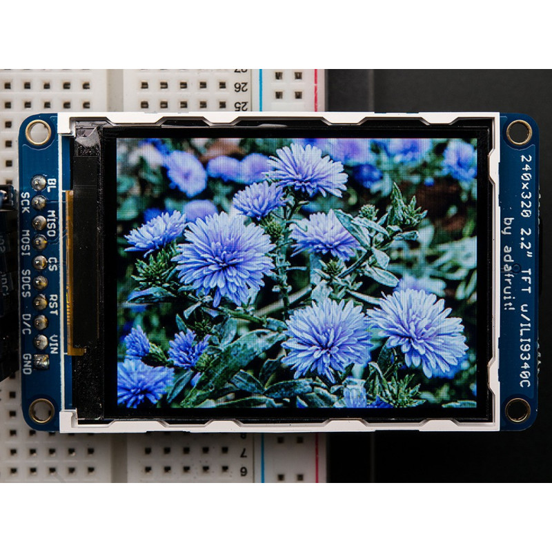 "2.2"" 18 BIT COLOR TFT LCD DISPLAY W/ MICROSD"