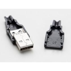 USB DIY CONNECTOR SHELL - TYPE A MALE PLUG