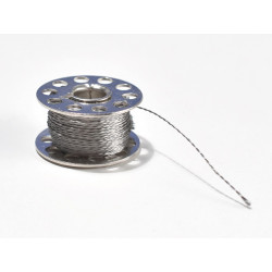 BOBBIN, 60FT STAINLESS CONDUCTIVE THREAD - 3PLY