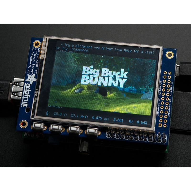 "PITFT MINI KIT 320X240 2.8"" TFT+TOUCHSCREEN FOR PI"