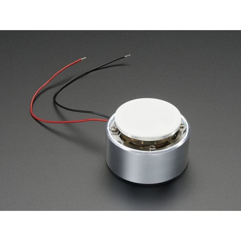 TRANSDUCER, LARGE SURFACE W/ WIRES, 4OHM, 5W