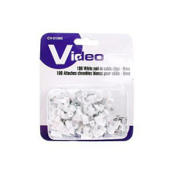CABLE CLIPS WITH STEEL NAIL 6MM 100PCS