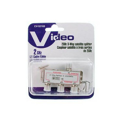 TV 3-WAY SPLITTER 5-2600MHZ/POWER PASSIN