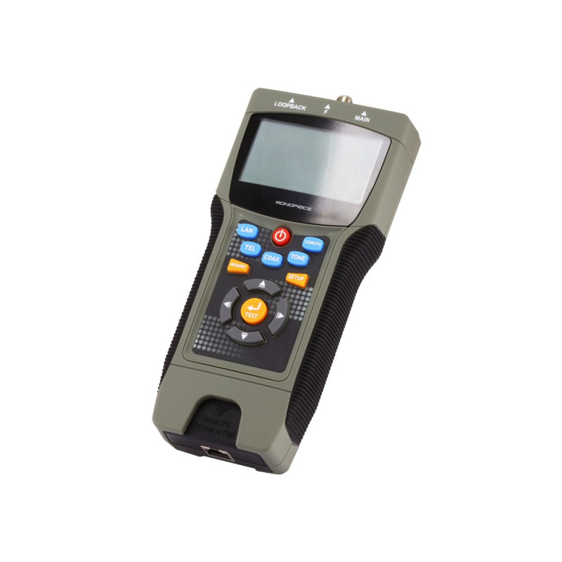 MULTIFUNCTION TESTER W/DISPLAY RJ45/11/12, COAXIAL