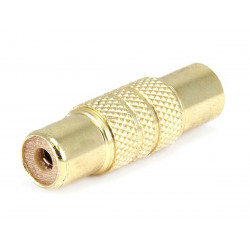 METAL RCA JACK TO JACK ADAPTER - GOLD PLATED