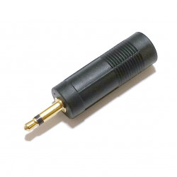 "3.5MM MONO JACK TO 1/4"" STEREO PLUG ADAPTOR"