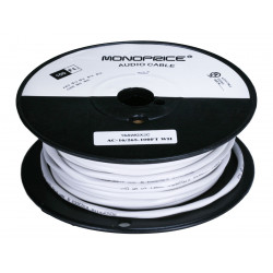 SPEAKER WIRE AWG16X2 FT4 WHITE 100FT/BOX