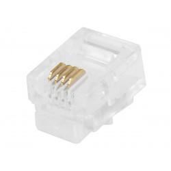 TEL. PLUG 4-PIN 6P/4C 12-254-0 4PCS
