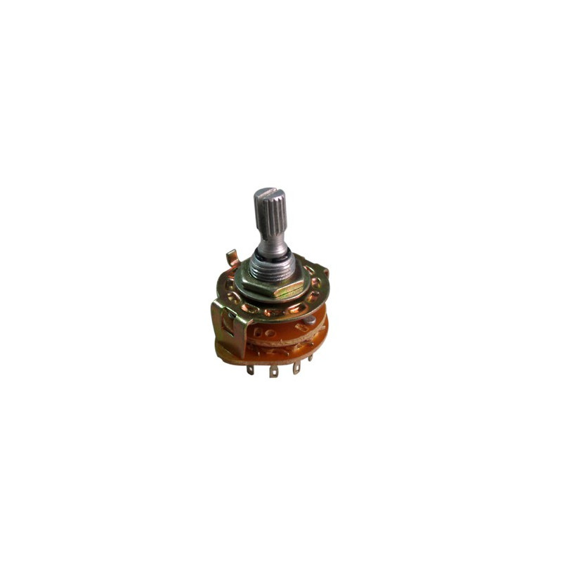ROTARY SWITCH 4P/3T METAL FRAME