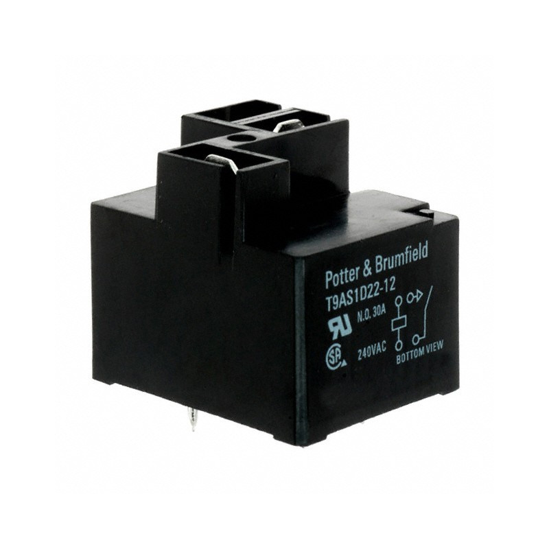 POWER RELAY, T9AS1D22-12, SPST-NO 12VDC, 30A
