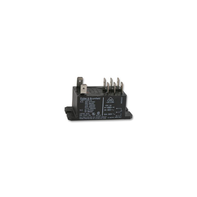 POWER RELAY, T92P11D22-12, DPDT 12VDC, 30A
