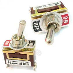 TOGGLE SWITCH,SPST,ON-OFF,20A,SCREW LUG T701 AW