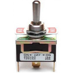TOGGLE SWITCH,SPDT,ON-OFF-ON,250VAC,12A,SOLDER LUG