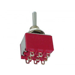 TOGGLE SWITCH,3PDT,ON-ON,5A,SOLDER LUG