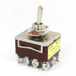 TOGGLE SWITCH 4PDT ON-ON 380VAC 15A SCREW LUG