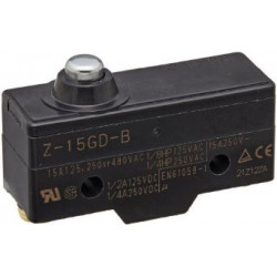 MICRO SWITCH,Z SERIES, SPDT,15A,Z-15GD-B