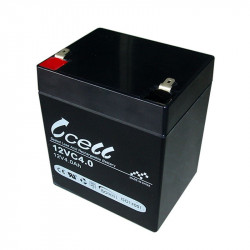 BATTERY, RECHARGEABLE SLA, LEAD ACID, 12V, 4AH