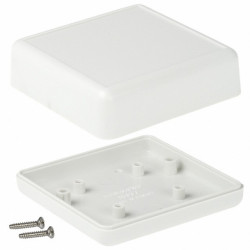 HAMMOND PLASTIC ENCLOSURE 66X66X28MM 1593JGY