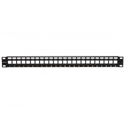 PATCH PANEL 1U 24 PORT BLANK W/ GROUND