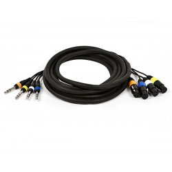 "4 CHANNEL 1/4"" - XLR(F) SNAKE CABLE 15FT"