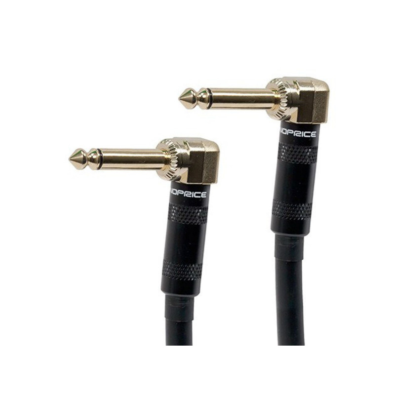 "AUDIO CABLE, 1/4"" TO 1/4"" MONO GOLD R. ANGLE 1.5FT"