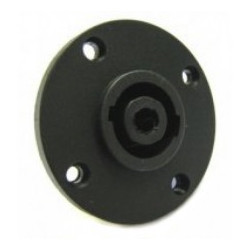 SPEAKON 4P SOCKET CHASSIS MOUNT JL0493 (ROUND)