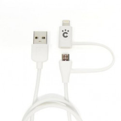 CHEERO USB CABLE W/LIGHTNING AND MICRO 60CM/2FT