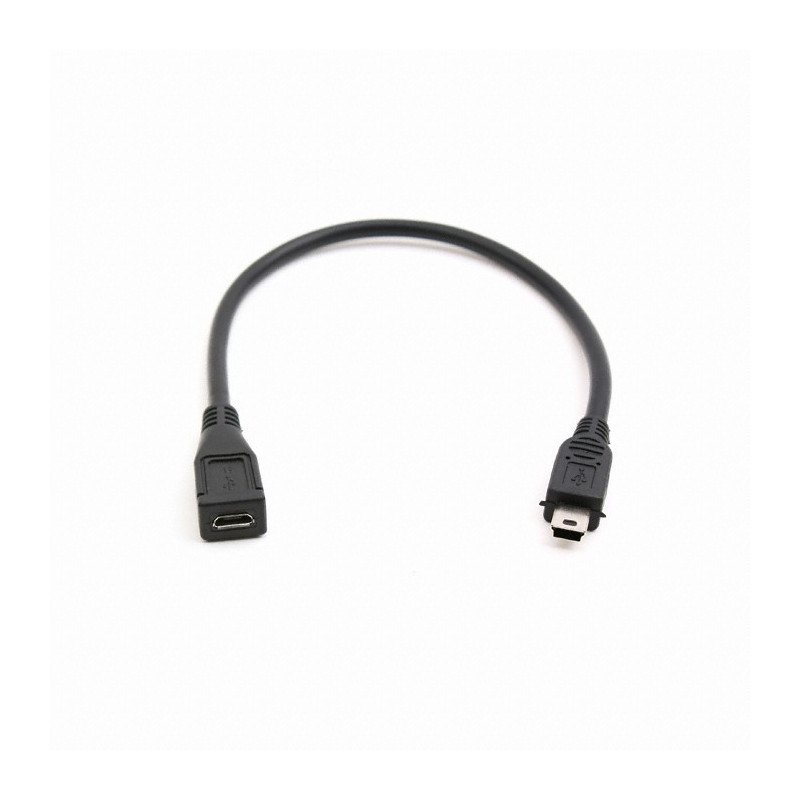 MINI(M) TO MICRO(F) USB CABLE 0.5M