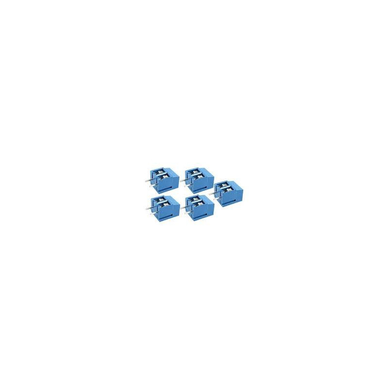 TERMINAL BLOCK BLUE 5LEEV-2P (F) 5PCS/SET