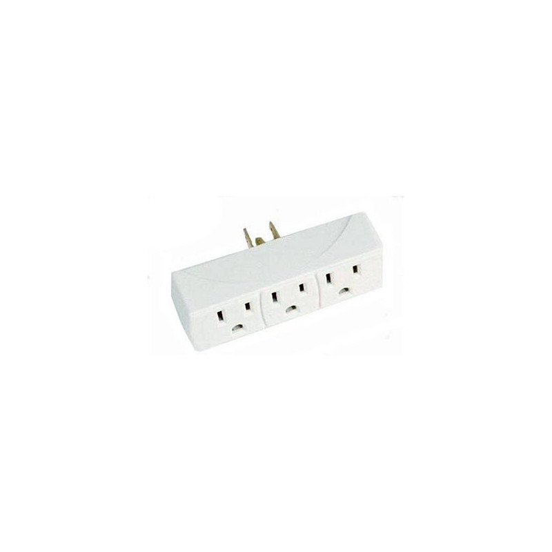 POWER OUTLET 1-IN 3 OUT RECTANGULAR SHAPE
