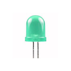 LED 8MM GREEN 2PCS/PKG